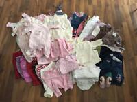 Large bundle of 3-6 month old girls clothes