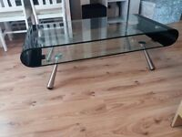 DFS glass coffee table
