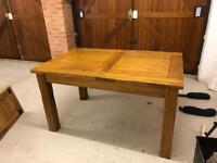 Oak Table and 4 x Chairs