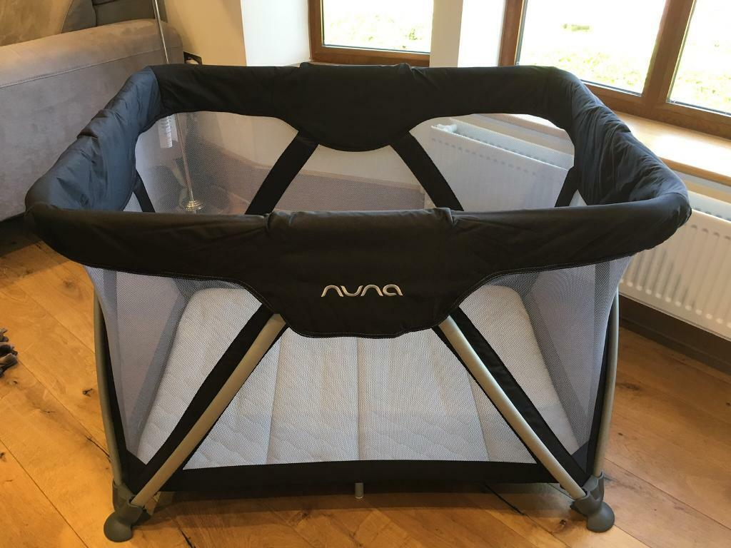 on sale c8c39 0d621 Nuna Sena Travel Cot/Play Space (black) + Extra Thick Mattress (white) | in  Oxted, Surrey | Gumtree