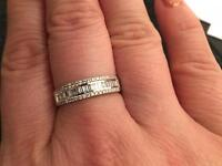 White gold and diamond wedding band/ring £1700 cost new price