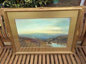 ORIGINAL George Trevor Watercolour Painting - 'On the Okement, Dartmoor'
