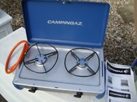 CAMPINGAZ CALOR GAS COOKER BRAND NEW IN BOX WITH INSTRUCTIONS BOOKS COST £60 BARGAIN ONLY £25