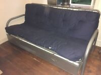 Metal framed double sofa bed