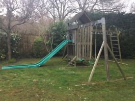***A true bargain*** TP Kingswood Climbing frame with Tower, Swing arm, Slide and Climbing bridge