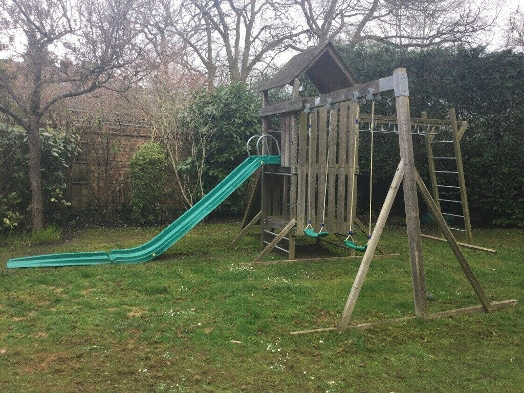 A true bargain*** TP Kingswood Climbing frame with Tower, Swing arm ...