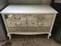 Mirror fronted chest of drawers x3