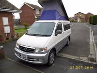 Mazda Bongo Facelift 2.5 TD with pop up roof & rear conversion