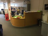 Nearly new exec. reception desk RRP £1000
