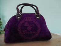 juicy couture purple velvet designer handbag