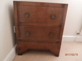 2 Drawer Oak Chest For Sale