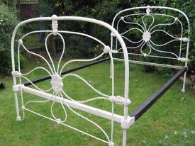 Victorian cast iron double bedstead