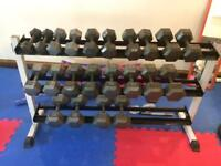 ***BARGAIN*** Complete dumbbell rack 5kg to 30kg Pairs. Home gym Clear out