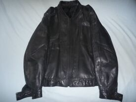 """M & S Leather Jacket, size 38""""-40"""" Chest size."""