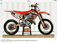Looking for 125 cc motocross for son xmas. Cr rm yz ktm running or not