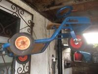 Vintage Retro 3 Wheel Pedal Kids Truck Tractor Trike