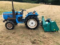 Mistsubishi MT1601D 4WD Compact Tractor with New 4ft Flail Mower, 18HP