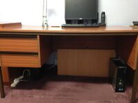 Home or Office Furniture consisiting of large desk, matching storgae cupboard & swivel chair