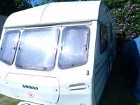 Lunar Premier 417 1995 4 berth Touring Caravan for sale. Near Bodmin in CORNWALL
