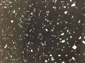 40mm Black Sparkle Gloss Laminate Kitchen Worktop - Brand New