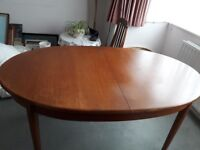 Vintage Mid to Late 19th. Century Dining Room Table and 4 chairs