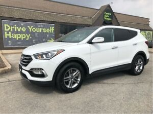 2018 Hyundai Santa Fe Sport SE / LEATHER / DUAL MOONROOF / AWD