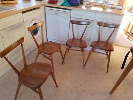Set of 4 chairs in original solid wood