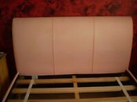 Double Bed- Faux leather pink bed