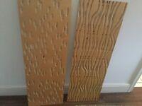 Beech decorative wooden wall art