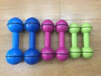 3 SETS OF DAVINA MCALL DUMBELLS