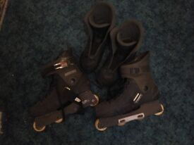 MENS INLINE ROLLER BOOTS - LARGE SIZE 7 - 9