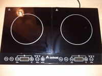 Aobosi Double Induction Hob, 2800w, Portable Digital Electric Cooker