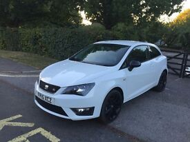 2015 SEAT IBIZA FR TSI 1.4 WHITE BLACK EDITION CAT D 16,000 MILES ONLY EXCELLENT CONDITION
