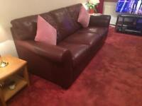 Leather suite - 1 x 3 seater, 2 x Chair, 1 x footstool