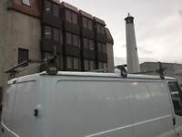 Ford transit roofrack with roller