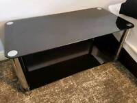 Black glass tv stand table furniture free