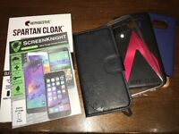Samsung S7 Edge lot of screen protectors and covers