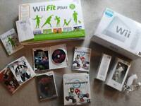 Nintendo Wii Console, Wii Fit Plus and Games
