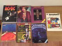 Guitar tablature books AC/DC, Jimi Hendrix, GnR, Chillies