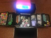 Nail kit Make up Case UV Lamp