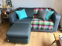 Habitat Porto; Sofa Bed, Armchair and Footstall RRP £1,495