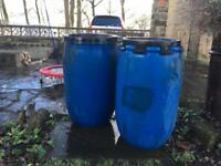 2 Heavy Duty Barrels / Containers / Water Butts