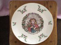 Royal Doulton commemorative Christmas Plate 1978