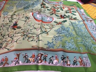 Foulard hermès intitulé «neige d antan» neuf dans sa boîte - coloris rare