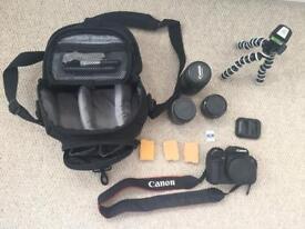 Canon EOS-700D £1,192 worth of kit including flash air Joby gorilla 55-250 18-55 + 50mm lenses DSLR