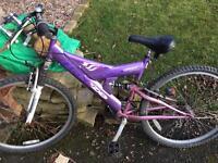 Ladies dual suspension mountain bike for sale