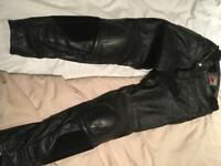 Hein Gericke leather trousers - size 30/32