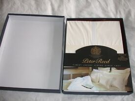 50% OFF for NEW FINEST LUXURY LINEN Peter Reed! ORIGINAL Package!! 5 Row Cord!!RPR £109.
