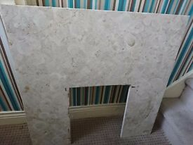 Marble fire place and harth
