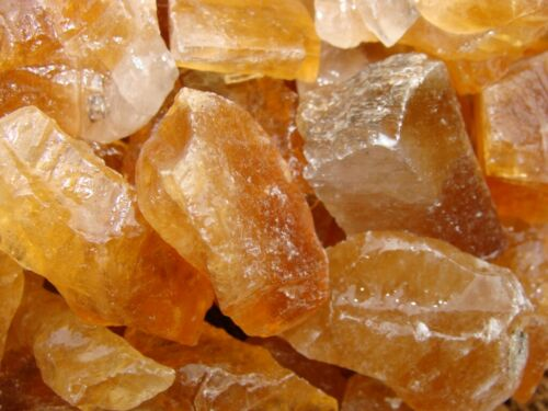 2000 Carat Lots of Unsearched Natural Citrine Calcite Rough + a FREE Faceted Gem